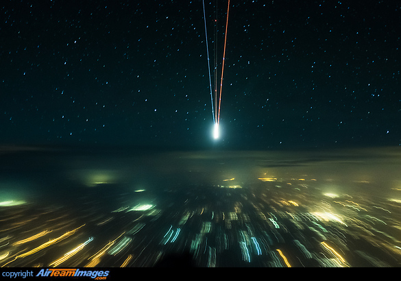 Night Flight Skyscape