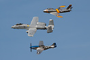 A heritage flight featuring an active A-10 flying alongside F-86 Sabre...