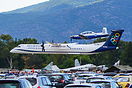 Q400 and a HAF T-6 Texan II getting low and fast during Athens Flying ...