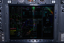 The multi-function display of the Garmin G1000 avionics suite that is ...