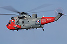 A Royal Navy rescue Sea King performing at Southport Airshow.