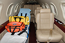 The cabin of an air ambulance equipped with a Lifeport Aerosled patien...