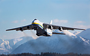 An AN-124 Ruslan(Condor) departs Anchorage headed to China from runway...