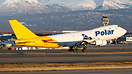Rotating off runway 15 at Anchorage a Polar Cargo 744F.
