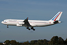 French Air Force A340-211, F-RAJB, during a crew training visit to Sha...
