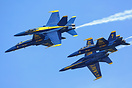 The Blue Angels displaying over San Francisco Bay during the 2015 Flee...