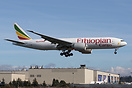 Ethiopian Airlines Boeing 777F ET-ARK CN 42034/1346 returning to Paine...