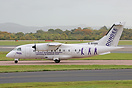 This Flybe Dornier 328 has extra titles promoting Dundee as the gatewa...