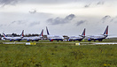 After the airlines demise ex Transaero parked aircraft at Shannon incl...