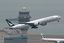 New colour scheme for Cathay Pacific Airways.