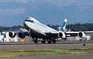 A Cathay Cargo 748 rotates out of Anchorage from runway 33 headed to M...