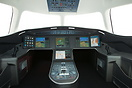 Mock-up of the new Dassault Falcon 5X cockpit on display at the Dubai ...