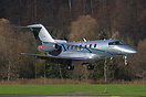 The second prototype of the Pilatus PC-24 is seen here on short finals...