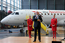 Austrian Airlines CEO Kay Kratky during the naming ceremony of Austria...
