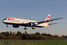 British Airways latest Boeing 787-9 long haul Dreamliner landing at Pa...