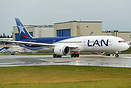 The first 787-9 Dreamliner of LAN airlines on her delivery flight