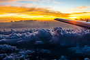 Nice cloud formation visible during descent into Cyprus airspace at du...