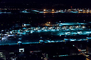 Overview of Terminal 1 during night. In the background is Cargo City S...