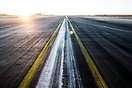 Touchdown zone of Runway 26L at Leipzig Airport EDDP