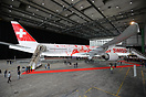 The new 777 is being presented to the Swiss staff before its first rev...