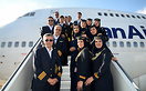 Iran Air Boeing 747-SP crew members.
