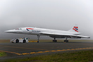 British Airways concorde being towed at Seattle museum of flight