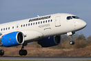 The first visit to Manchester of the Bombardier CS100 for promotional ...