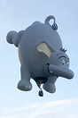 Pea - Nut Elephant balloon first to take off today at Balloons over Wa...