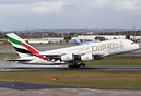 Emirates' inaugural A380 on the lunchtime arrival at Birmingham from D...