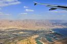 over Akaba city Jordan.few moments before landing land at eilat.