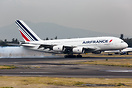 Air France operating with A380 in Mexico City