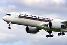 First flight of Singapore Airlines #3 A350, MSN 31, test registration ...