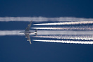 A7-APA following the contrail of sistership A7-APB over Athens