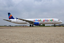 Small Planet Airlines first Airbus A321 which was painted by MAAS Avia...