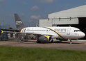 First Airbus A319 to join Nesma Airlines of Egypt sitting outside Airb...
