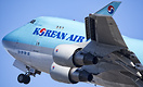 A Korean Air Cargo 744F launches out of Anchorage headed home to Seoul...