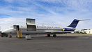 Awaiting another load of freight an Everts DC-9 sits on the ramp at An...