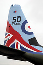 Hercules C5 in special markings at Brize Norton celebrating 50 years o...