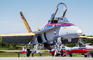 2016 Royal Canadian Air Force CF18 demo,  commemorates the British Com...