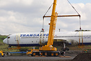 This Boeing 767 was removed from Shannon Airport and floated round the...