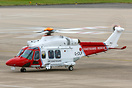 A rare sight of a coastguard helicopter so far from the coast, this AW...