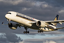 One of Singapore Airlines brand new Airbus A350's on short final to Me...