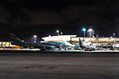 Boeing 747-400 4X-ELB and Boeing 737-800 4X-EKF at the terminal at nig...