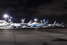 Several aircraft at the terminal, including 4X-EAM, 4X-EAP and a US Ai...