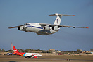 This Ukraine Air Force IL-76 performed a flypast at Malta Airport befo...