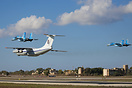This Ukraine Air Force IL-76 performed a flypast at Malta Airport with...