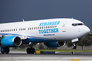 "The Clinton campaign new Boeing 737-800  with Clinton's slogan ""Strong..."