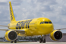 First Spirit Airlines A320-NEO arrives at Fort Lauderdale at the end o...
