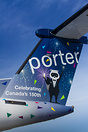 Special livery on this Porter Q400's tail for Canada's 150th.