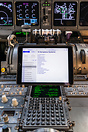 EFB (Electronic Flight Bag) in operation, showing Operational Manual B...